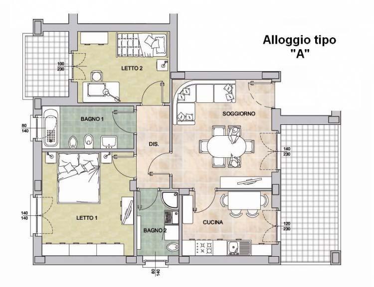 """Alloggio tipo """"A"""""""